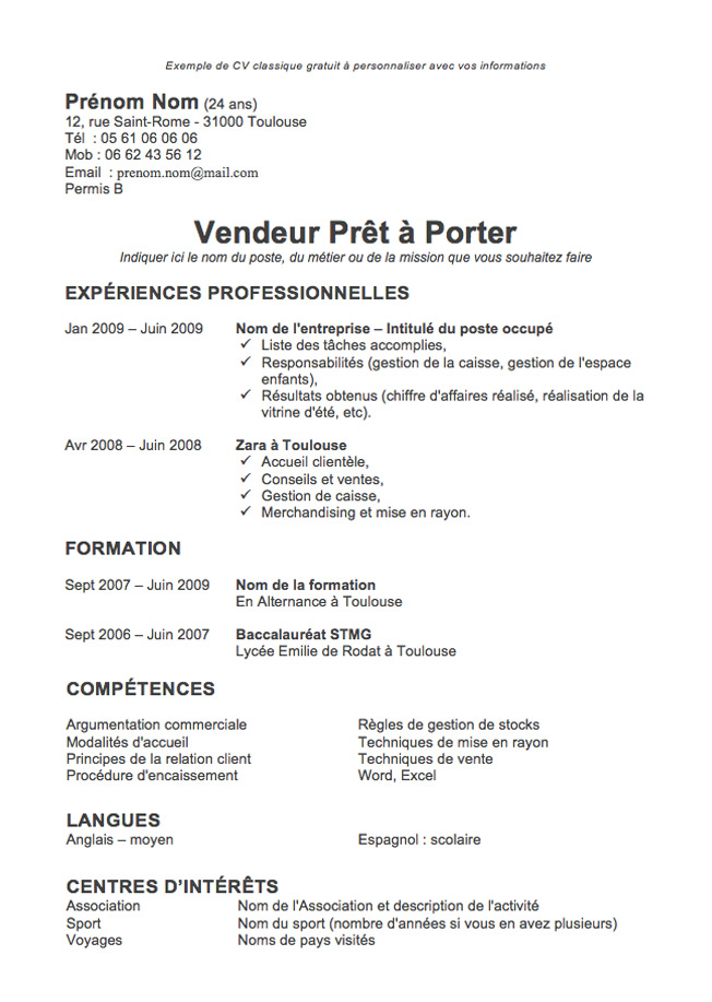 Model Cv Simple] Model Cv Happycartco, Resultat De Recherche