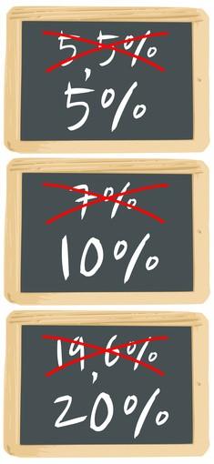 tva   les taux changent  u00e0 partir du 1er janvier