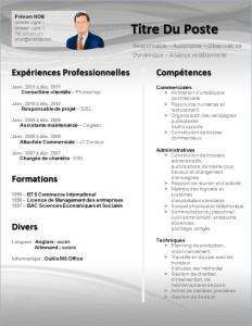 modele de CV gratuit