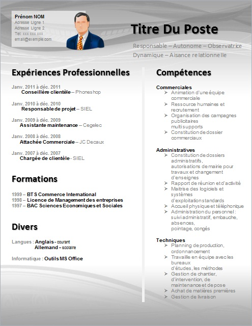 Célèbre Exemple lettre de motivation assistant(e) marketing VC07