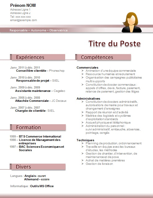 exemple lettre de motivation assistant e  marketing